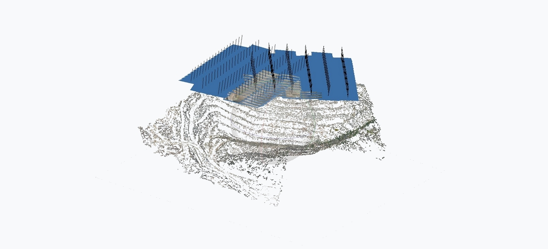 Carrière sparse point cloud